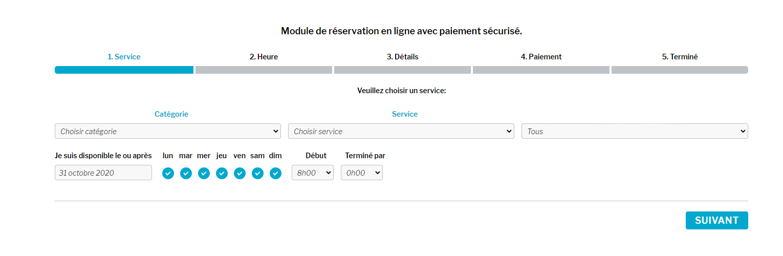 Module de réservation pour site web